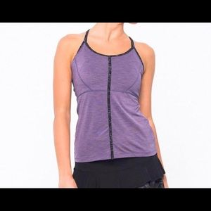 Lija Tenacious Tank Top Athletic Strappy Tennis